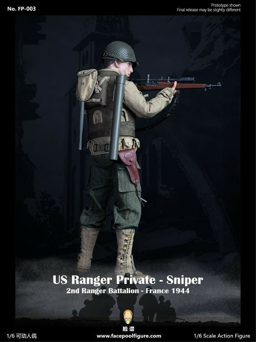 Pre-order 1/6 Facepool US Ranger Private – Sniper France 1944 FP003A