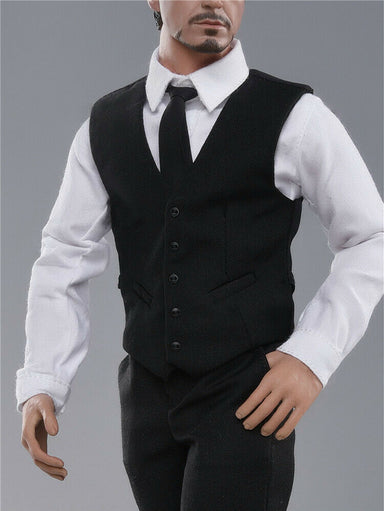 In-stock 1/6 JXTOYS JXTOYS-037 Waistcoat Suit Clothes Set For Muscular Body