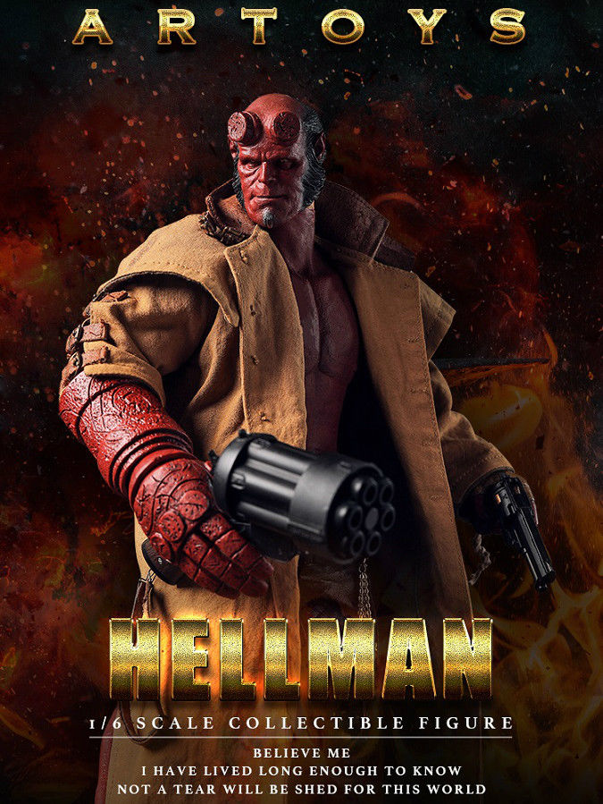 1/6 Scale ARTOYS Hellman Action Figure (4 * Heads)