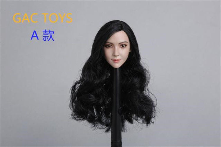 In-Stock 1/6 Scale Female Head Sculpt Asian GAC GC011 AB Angelababy Asian