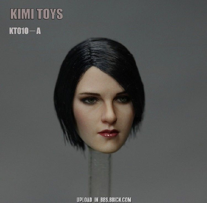 In-Stock KIMI TOYS KT010 1/6 Scale Female Head Sculpt Suntan Skin Caucassion