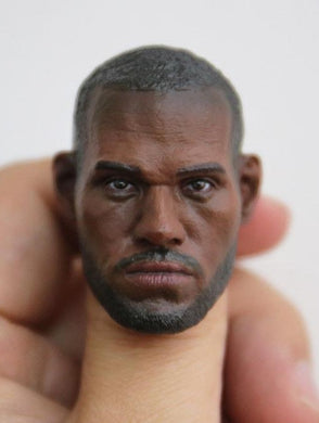 1/6 Head Sculpt For LeBrown James NBA Basketball Star for 12'' Action Figure