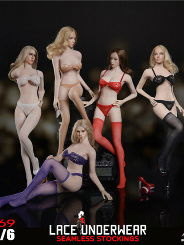 In-stock 1/6 Scale Fire Girl Toys FG069 Seamless Stocking Lace Lingerie Set