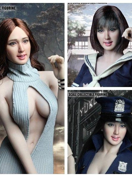 In-stock SUPER DUCK 1/6 Scale SDH007 Asian Sweet Girl Femal Head Sculpt