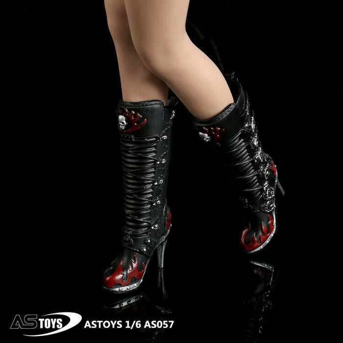 In-stock 1/6 ASTOYS AS057 High Heels Gothic Boots (For Pegs)