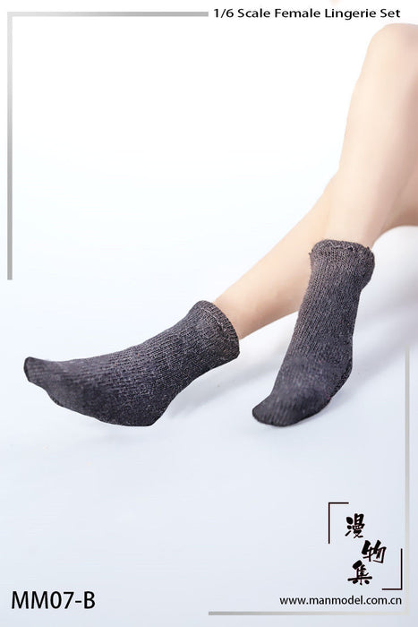 In-stock Manmodel MM07 Female Socks For 12'' Figures TBLeague