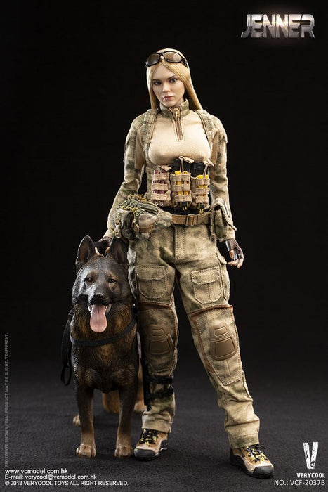 VERYCOOL VCF-2037B 1//6 Scale A-TACS FG Women Soldier JENNER Head Sculpt