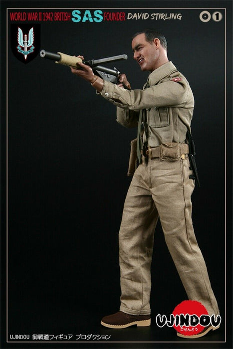 In-stock 1/6 WWII BRITISH SAS FOUNDER DAVID STIRLING 1942
