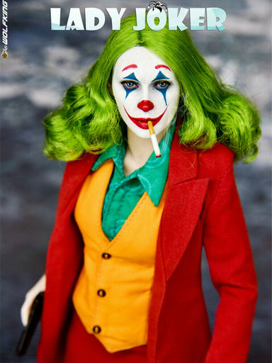 Pre-order 1/6 WOLFKING Female Joker WK89022 Action Figure (Seamless Body)