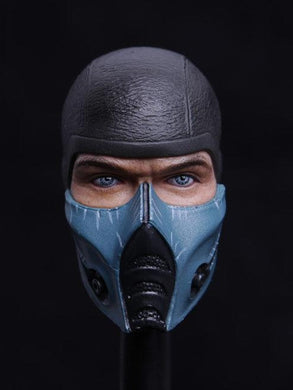 1/6 Head Sculpt For Sub-Zero 1/6 Worldbox Mortal Kombat Sub-Zero