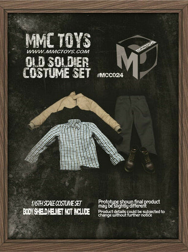 In-stock 1/6 MCCTOYS MCC024 Old Soldier Veteran Clothes Costume Set