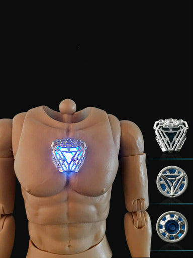 In-stock 1/6 Iron Man Luminescent Effect Male Body For 12'' Figure ST020