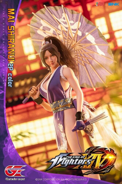 In-stock 1/6 Genesis  Emen KOF-MS02 Mai Shiranui 2P Color Action Figure