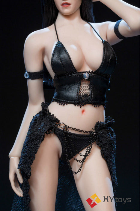 In-Stock 1/6 Scale XYtoys XY003 Soldier Black Leather Underwear Lace Skirt Suit