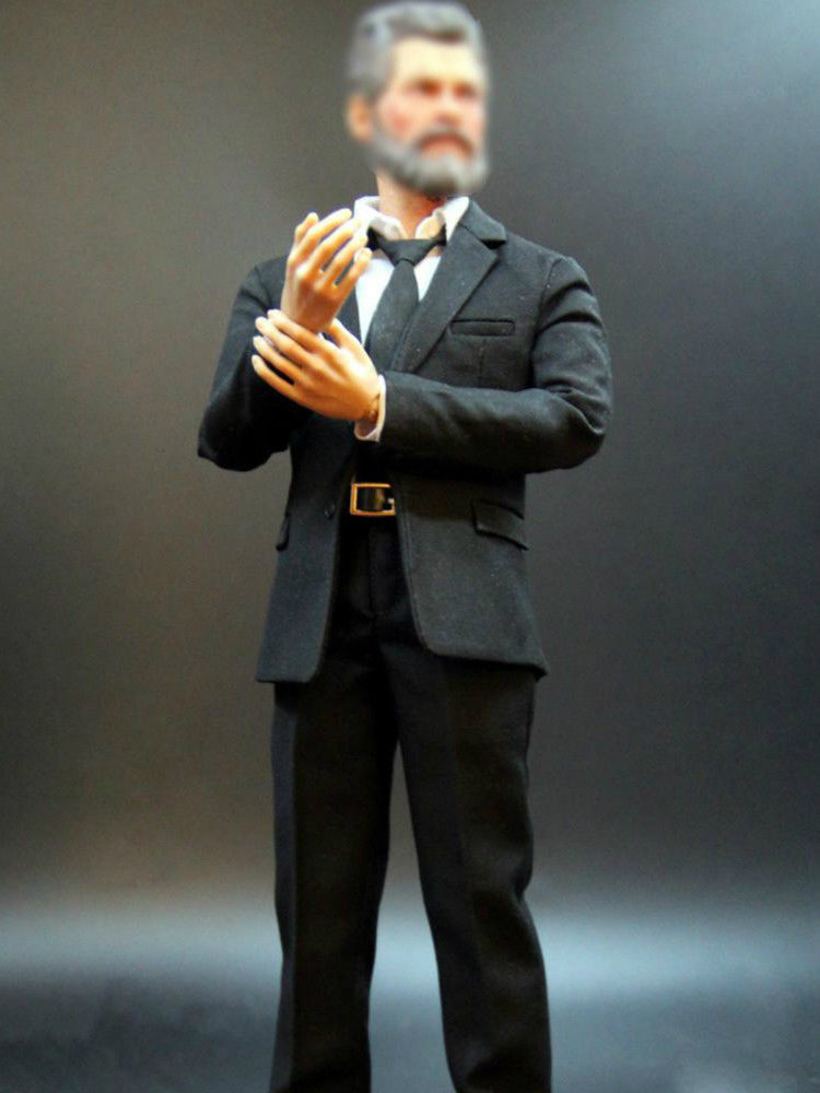 1/6 XYTOYS Black Suit Fit For Slim Body onesix Action Figure Accessory