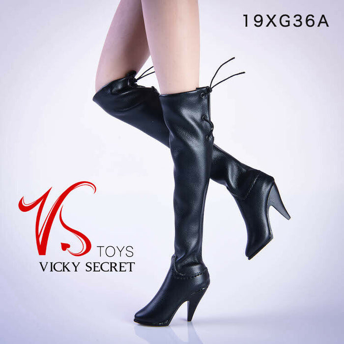 In-stock 1/6 Scale VSTOYS 19XG36 Knee Boots For Detachable Feet Accessories