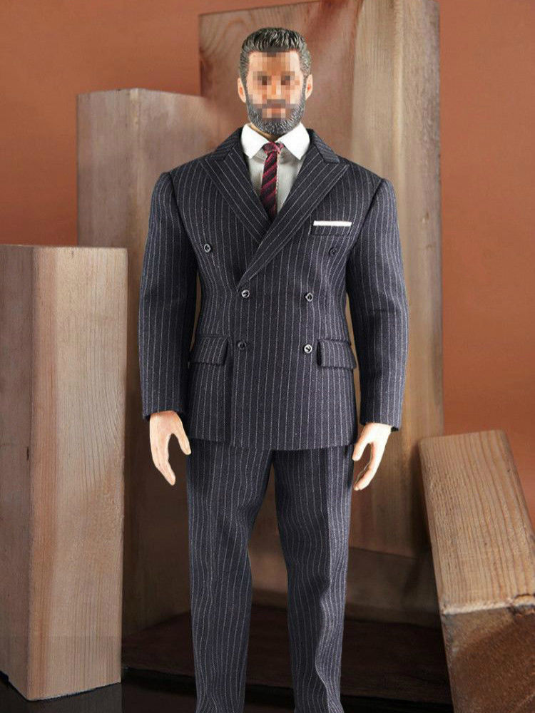 1//6 Male Gentleman Suit Outfit Set for 12/'/' Hot Toys Action Figures Grey