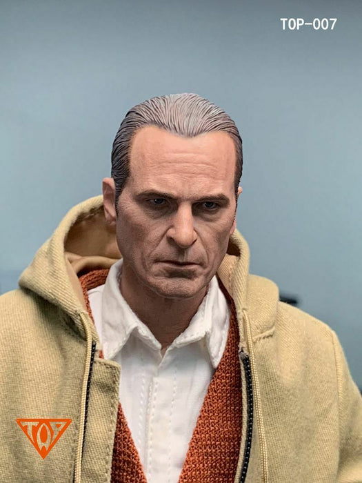 In-stock 1/6 Scale TOP TOP-007 Joker Head Sculpt HW/Neck