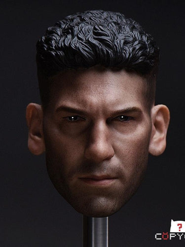 1/6 Copycat Head Sculpt For Punisher Frank Castle Jon Berntha PVC onesixth