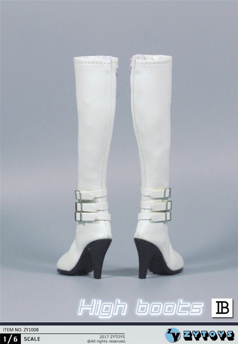 1/6 Female Boots ZY1008 Knee High Leather Female