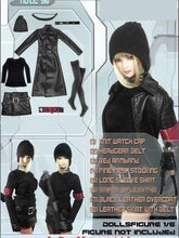 In-Stock 1/6 Dollsfigure Gothic Female Clothes Leather Set CC98