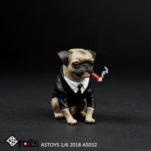 In-stock ASTOYS 1/6 2018 AS032 Pug Suit Starling Cigar Dog Scene Props