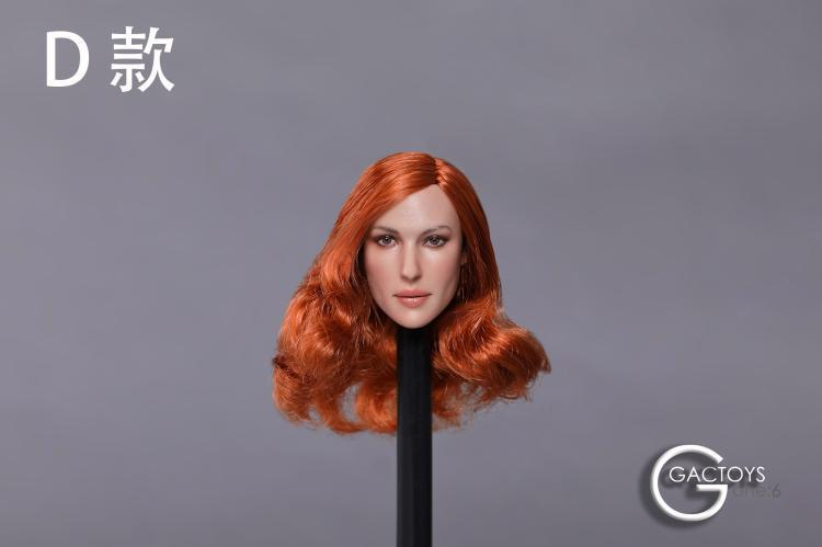 In-stock GACTOYS GC020 Caucasus Female Head Sculpt H#Suntan