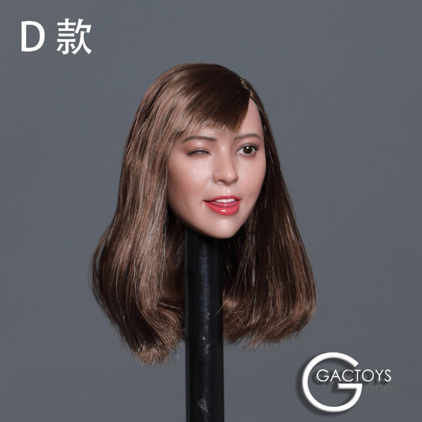 In-stokc 1/6 Scale GACTOYS GC036 Winking Female Asian Head Sculpt