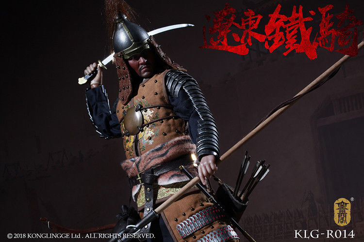 In-stock 1/6 Scale Ming Dynasty Liaodong Mongol Cavalier KLG-R014 12in Action Figure
