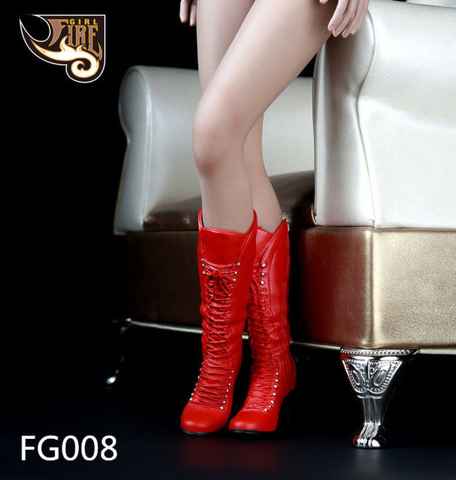 "Fire Girl Toys 1//6 Scale FG007 Boots Black for 12/"" Female Action Figure"