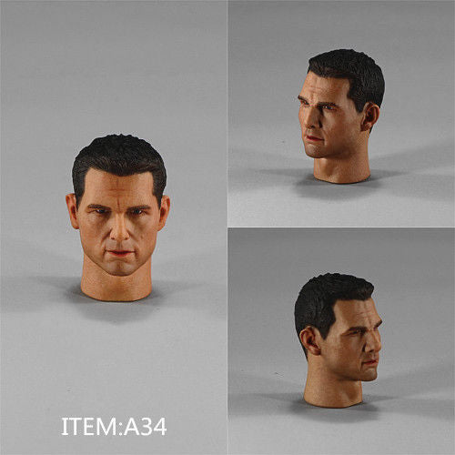 "1//12 Scale The Last Samurai Tom Cruise Head Sculpt Unpainted Fit 6/"" ML Figure"