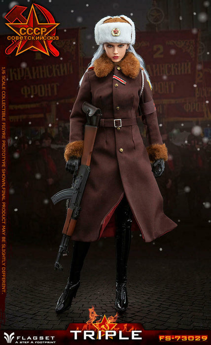 In-stock 1/6 FLAGSET Red Alert Soviet female officer Katyusha FS-73029