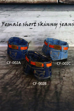 1/6 Female Low-waisted Short Denim Jeans Pants Clothes Accessory