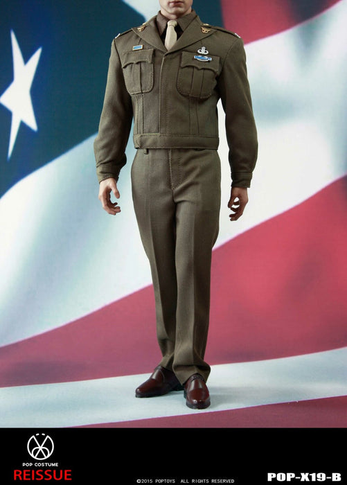 Pre-order 1/6 POPTOYS POP COSTUME X19 WWII Golden Ages Captain Uniform suit B