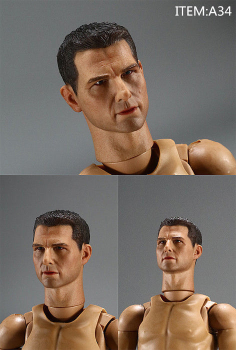 1/6 Scale Male Sculpt For Tom Cruise For 12'' Figure