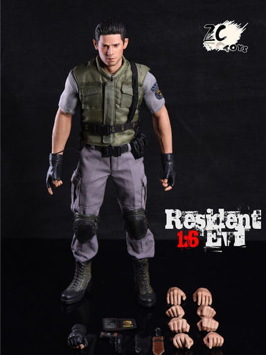 1/6 Scale Chris Redfield Resident Evil Police Officer Biohazard Wesker