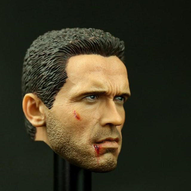 1:6 scale JOPTOYS NO:T07 Arnold Schwarzenegger Battle Damaged Head Sculpt