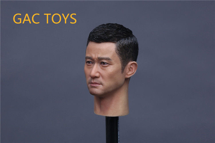 In-Stock GACTOYS GC010 1/6 Scale  Wu Jing Jason Head Sculpt Action Star Wolf Warriors