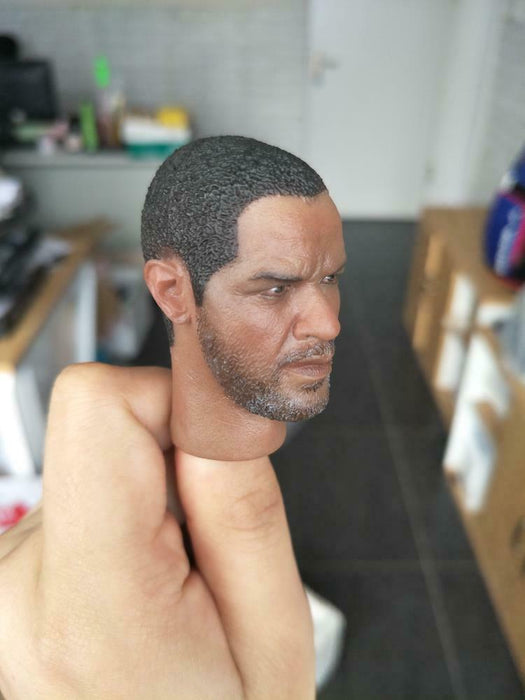 In-stock 1/6 Scale A12 Denzel Washington Head Sculpt HW/Neck