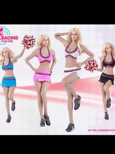 In-Stock 1/6 Fire Girl FG047 Female Cheerleader Suit 12in Figure Clothes Set