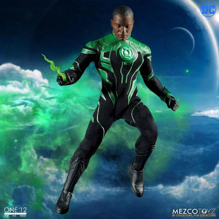 In-stock Mezco Toyz 1/12 The Green Lantern John Stewart 77031