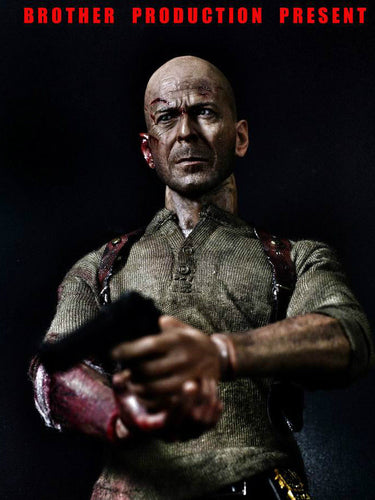 In-stock 1/6 Scale Die Hard JOHNNY 2.0 Action Figure (2 Heads)