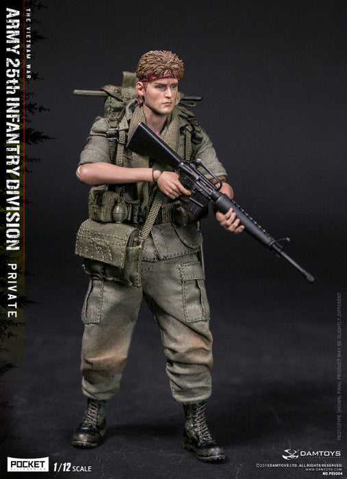 In-stock  DAMTOYS  1/12 POCKET ARMY 25th Infantry Division Private PES004