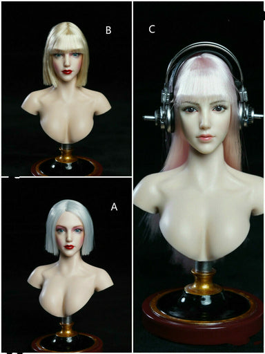 Pre-order 1/6 SUPER DUCK SDH019 Female Head Sculpt H#pale