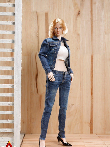 ACPLAY 1:6 Accessories Cowgirl Clothing Set in Blue AP-ATX012A