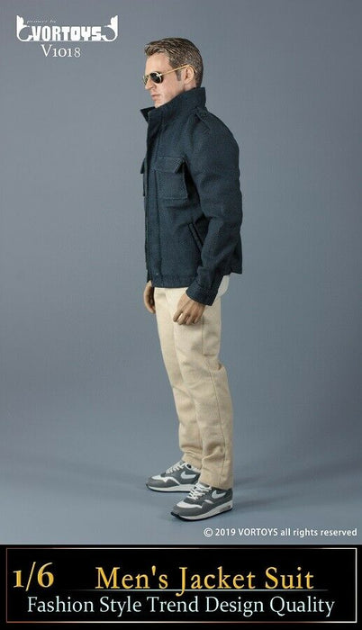 In-stock  1/6 VORTOYS V1018 Men's Jacket Suit Clothes Set V1018