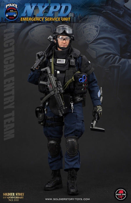 "In-Stock Soldier Story SS100 1/6 Scale NYPD ESU ""TACTICAL ENTRY TEAM"" 12in Action Figure"