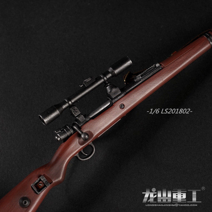 In-stock 1/6 Scale LS201202 WWII Weathered Ver. 98K8 8 Times Scope Rifle