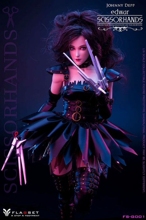 In-stock 1/6 Flagset FS-G001 Edwar Scissorhands Action Figure