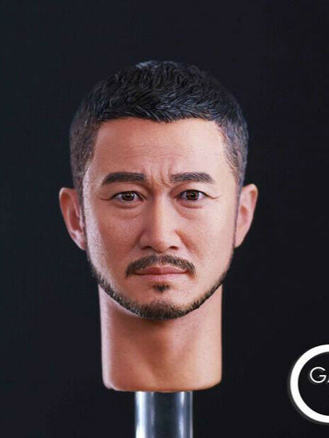 In-stock 1/6 Scale GACTOYS GC026 Asian Action Star Head HW/Neck